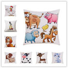 Nordic Cartoon Style Animal Printed Cushion Pillow Seat Car Home Throw Pillow