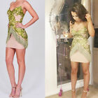 Women Dresses Sequins Lace Tassels Halter Evening Party Cocktail Club Mini Dress