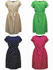 Eaonplus vintage inspired polkadot tea dress choice of colours sizes 18 to 32