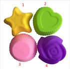 7cm Heart Pentagram Silicone jelly Ice Cake Muffin Chocolate Baking Cup Mold