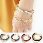 Women's Fashion Style Bracelet Gold Bangle Chain Rope Charm Cuff Multilayer Gift