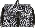 Travelon Women's Hanging Toiletry Cosmetic Travel Bag, Zebra or Black Quilted.