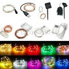 Battery/Solar/12V 1-18M 10-200 LED MICRO Silver Copper Wire Fairy String Lights