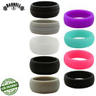 Barbell 1 Silicone Rubber Wedding Ring Band for Men & Women - Gym, Crossfit