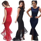 Plus Size Womens Summer Casual Sleeveless Cocktail Party Evening Mermaid Dress