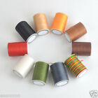 78m Spool 0.8mm Flat Sewing Leather Waxed Waxing Polyester Thread LeatherCraft