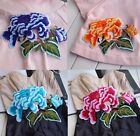 """4PCS Embroidered Colorful Peony Flower Patch iron on Appliques 7.8""""X7"""" FT16"""