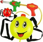 Water Gun Backpack Smiley Face Squirt Toy Soaker Pressure Spray Blaster Pool Toy