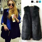 NEW Womens Winter Fashion Warm Faux Fur Long Vest Jacket Coat Waistcoat Hot