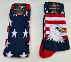 Mens Freedom For Your Feet Red White Blue Pair of socks 2 styles Size 6-12