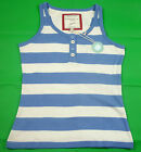 NEW! Ladies Joules Royal Blue & White Stripe Candy Vest / Sleeveless Top 8-12