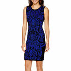 Bisou Bisou Womens Sleeveless Bodycon Sweater Dress black royal size L NEW