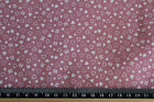Small Hearts on dusky pink ditsy pattern 100% cotton  Fabric material