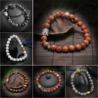 Top Natural Howlite Stone Gold Silver Buddha Men Beaded Lucky Bracelet Handmade
