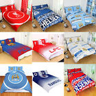 Cotton Blend - NEW FOOTBALL CLUB DOUBLE DUVET QUILT COVER SETS BOYS KIDS BEDROOM