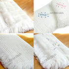 New, Beautiful White Baby Shawl with Fringe Boys Girls Unisex - Choice of Design
