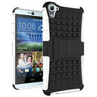 Armor Shockproof Rugged Hybrid Rubber Stand Protective Hard Case Cover For HTC