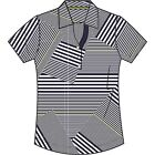 Page & Tuttle Ladies' Mitered Stripes Short Sleeve Polo P15S68