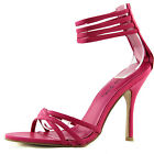 Women's Casual Strappy Zip Up Evening High Stilleto Sandal Fashion Heel Shoes