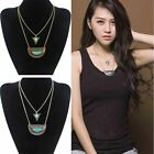 New Women's Turquoise Gold/Siver Plated Chain Choker Jewelry Necklace