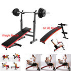Weight /Sit Up Bench Barbell Workout Shoulder Chest Press Home Gym Exercise New