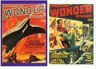 2 Postcards of Thrilling Wonder Stories 1930s Science Fiction Pulp Magazines