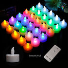 Flameless Battery RGB LED Tea Light Candle With Remote Control For Party Wedding