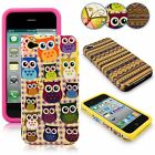 For Apple iPhone 4 4s 4g High Impact Armor Hard & Soft Rubber Silicon Case Cover