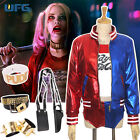 Suicide Squad Joker Costume Cosplay Harley Quinn Outfit Suit Halloween party