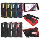 For LG PHOENIX 2 AT&T GoPhone Case Tough Hybrid Armor Kickstand Protective Cover