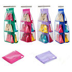 6 Grids Closet Case Door Hanger Handbags Finishing Hanging Organizer Storage Bag