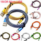 3FT Micro USB A to USB 2.0 B Braided Data&Sync Charger Cable For   Android Phone