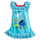 Disney Store Girls Finding Dory Nemo Short Sleeve Blue Bubble Nigtgown NWT