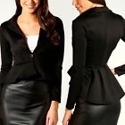 Donne One Button Sottile Casuale Business Blazer Suit Giacca Cappotto Outwear