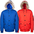 Mens Weekend Offender Hooded Jacket Padded Warm Quilted Designer Bomber Fur