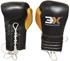 Boxing Gloves Cow Hide Leather Laces Training Mitts Handwraps Fight Competition