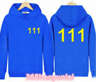 Game Fallout 4 Vault Boy 111 Hoodie Men Women Pullover Adult Blue Sweatshirts