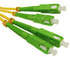 SC/APC-SC/APC Fiber Optical Duplex Patch Cords Single mode 9/125 1M-30M Lot
