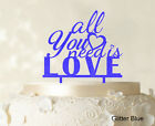 All You Need is Love Custom Cake Topper Personalized Mirror Cake Topper