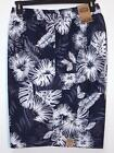 NWT Men's Foundry Cargo Swim Trunks Shorts Indigo Floral 1XL 3XL 4XL 5XL 6XL