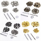 Multi Colors Heavy Duty Snap Fasteners 10/15mm x 50 Press Studs Buttons/Tools