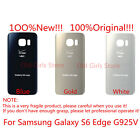 Back Glass Cover Battery Door Rear Panel for Samsung Galaxy S6 edge G925 Verizon