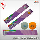 DOUBLE FISH TABLE TENNIS BALL - NON-STAR TRAINING GRADE BALL, WHITE AND YELLOW