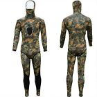 New 3mm Camo Camouflage Full Body Hooded Wetsuit SCUBA Diving Spearfishing Hood