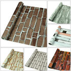 10M 3D Wallpaper Brick Thicken Stone Self-adhesive Waterproof Wall Paper Decor