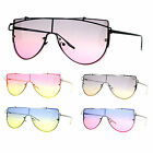 SA106 80s Disco Color Gradient Rimless Shield Retro Sunglasses