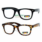 SA106 Retro Horn Rim Multi 3 Focus Progressive Reading Glasses
