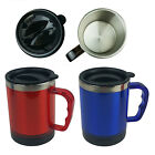 New 15 oz Stainless Steel Coffee Mug Cup with Handle Insulated Thermos