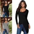Fashion New Women Loose Shirt Casual Top Long Sleeve Cotton T Shirt Tops Blouse