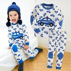 "Vaenait Baby Toddler Kid Boy Clothes Long Sleepwear Pajama Set ""Blue Car"" 12M-7T"